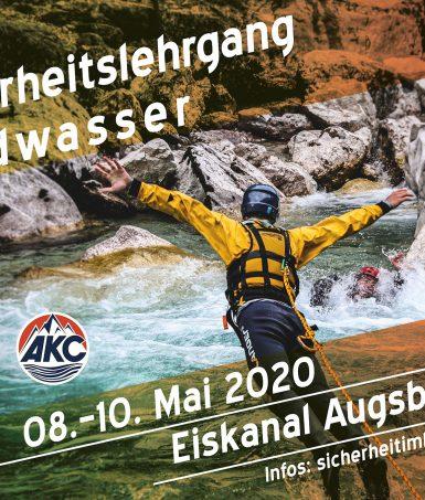 Sicherheitslehrgang Wildwasser - Augsburg 2020
